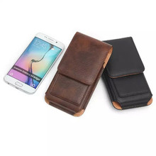 Hot saling leather Sports Wallet Phone Bag For Multi Phone Model Hook Loop Belt Pouch Holster Bag Pocket Outdoor Army Cover Case