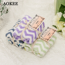 34*80cm Striped Baby Face Towel Bath Towel for Adults AOKEE Brand Soft Microfiber Towels Bathroom Face towel toalha banho A0122(China)