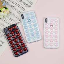 Buy 3D Relief Love Shaped Phone Cases iphone X Case Soft Silicone Fashion Bling Flash Back Cover iphone 7 6 6S 8 Plus Case for $1.35 in AliExpress store