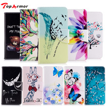 TopArmor feather PU Leather Flip Case Cover For Samsung GALAXY S6 Edge G9250 Card Slots Wallet phone case Bags Fundas Coque(China)