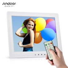 "Andoer 10"" HD Digital Photo Frame 1080P 800 * 600 Support MP4 Video MP3 Audio TXT eBook Clock Calendar w/ Remote Control"