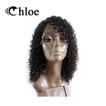 Chloe 100% Human Hair Lace Front Wigs Brazilian Virgin Hair Kinky Curly Lace Frontal Wigs Density 130% Model Number FT-1456(China)