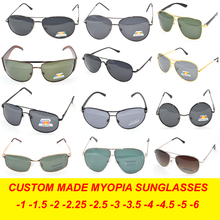 MAKE GLASSES BY CHOOSE FRAME Custom Made Nearsighted Minus Prescription Polarized Sunglasses-1 -1.5 -2 -2.5 -3 -3.5 -4(China)