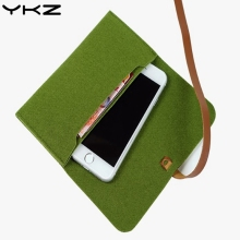 YKZ Universal Pouch For iphone 7 8 X pouch Wool Felt protective sleeve Bag for iphone 6 6s 7 plus Cover Fashion Pouch Case R30(China)