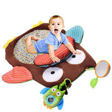 76cm*76cm Soft Baby Play Mat Cotton Baby Activity Mat Crawling Mat Play Mat Pad Padded Bolster Large Mirror Teether Animals Gift