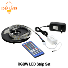 Buy LED Strip 5050 RGBW /RGBWW 5M 300LEDs Indoor Decorations Tape + 44 Key IR Controller + DC 12V 3A Power Supply for $14.25 in AliExpress store