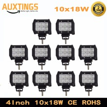 4inch offroad led light bar 18w led work lamp spot flood driving light 12v 24v offroad truck trailer 4X4 led work light