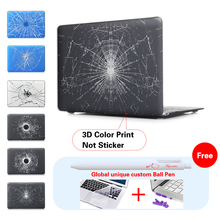 Broken Cracked Glass Notebook Bag Frosted Matte Surface Case For Macbook Pro Case For Mac Book Air 13 Case Protective Shell