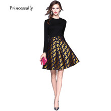 Robe De Soriee New Black Cocktail Dresses Long Sleeve With Gold Bird Pattern Simple Elegant Formal Homecoming Graduation Vestido(China)
