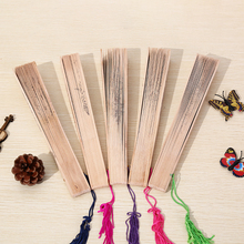 JETTING 9 inch Portable Wooden Chinese Folding Fan  Hollow Out Wood Fan  Party DIY Decoration