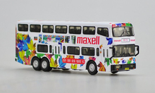 Special offer Out of print Rare 1/76 Hong Kong General Model Alloy double-decker bus model maxell Painting Favorites Model