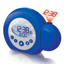 LED mute alarm clock projection Snooze function LUMINOVA display digital calendar battery circular with backlight blue clock