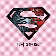 25x18cm/6x4.5cm Spider super hero Iron On A-level Patches Heat Transfer Pyrography For DIY T-Shirt Clothing Decoration Printing(China)