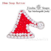 Fashion Snaps Charms Jewelry Snaps Button with Cute Cap Designs Inlay Full Colorful Crystal Fit Snaps Bracelet JSSB1815-19