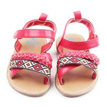 0-18 Month Baby Girl Sandals Soft Sole Black  infant Kids Shoe Red sapato New Arrival 2017