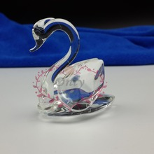 12PCS/LOT  Cheap Crystal Glass Swan Figurines For Wedding Giveaway Gifts