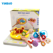 Baby Toys Wooden Cooking Set Sylvanian Families Kitchen Food Educational Toy Tea Toys for Children Food Candy Christmas Gift(China)