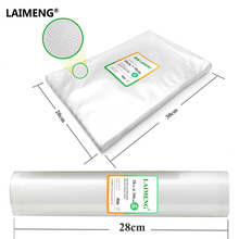 LAIMENG Discounts Price BPA Free Quality 20pcs 20*30cm Plus 28*300cm Kitchen Vacuum Sealer Bags(China)