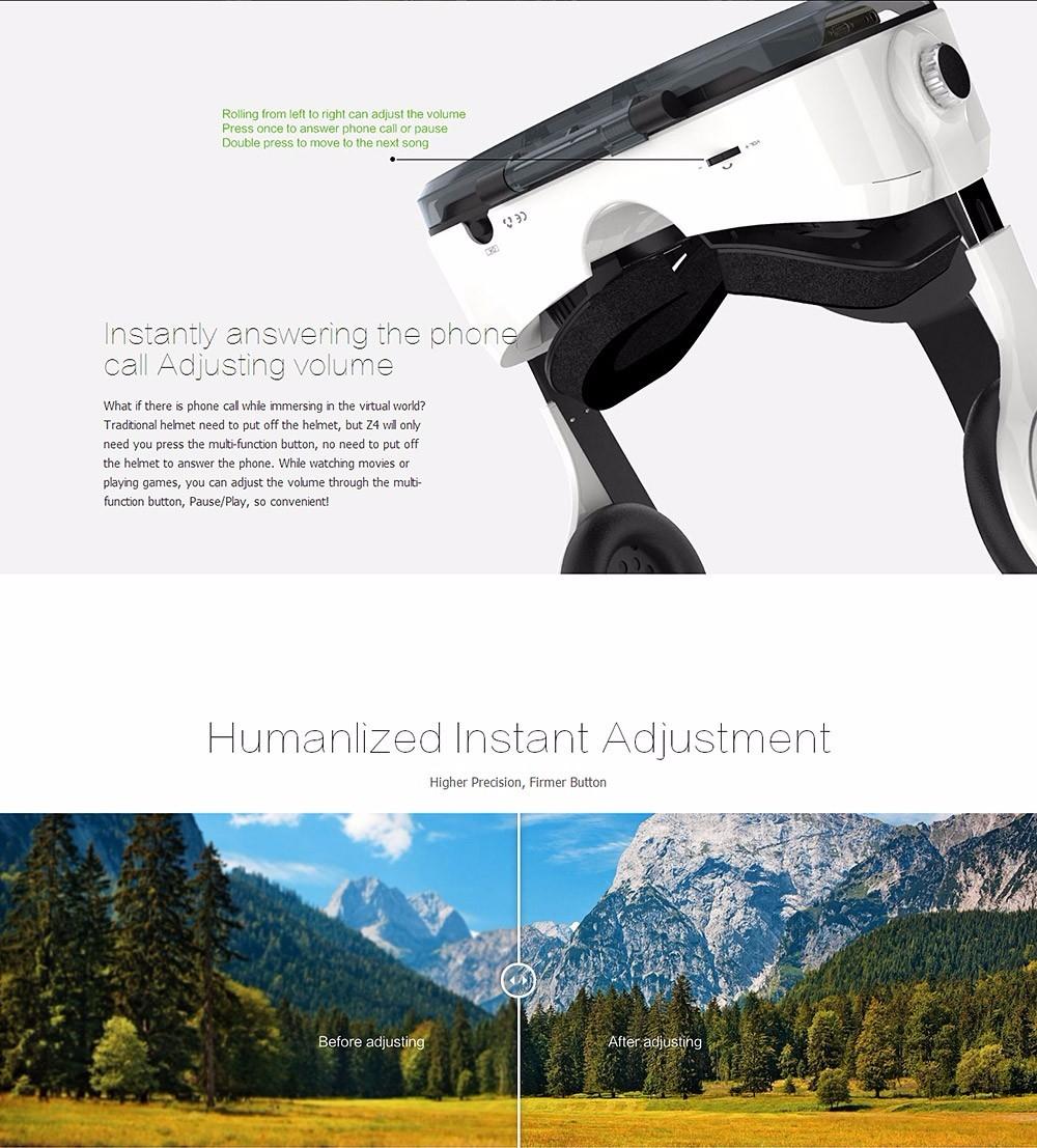 Virtual Reality Google Cardboard VR BOX Original bobovr Z4/ Z4 Mini 3D glasses+Bluetooth Controller for 4-6' Smart Mobile Phone 13