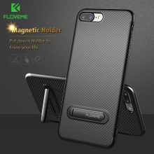 FLOVEME Kickstand Phone Case For iPhone 7 6 6S 8 Plus Luxury Mobile Phone Bag Case Soft Silicon Cover For iPhone 7 6 6S 8 Case(China)