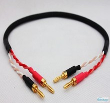IWISTAO HIFI Speaker Cable for Music Surround Center Speaker With Japan origin Canare Cable American Budweiser Banana Plug DIY