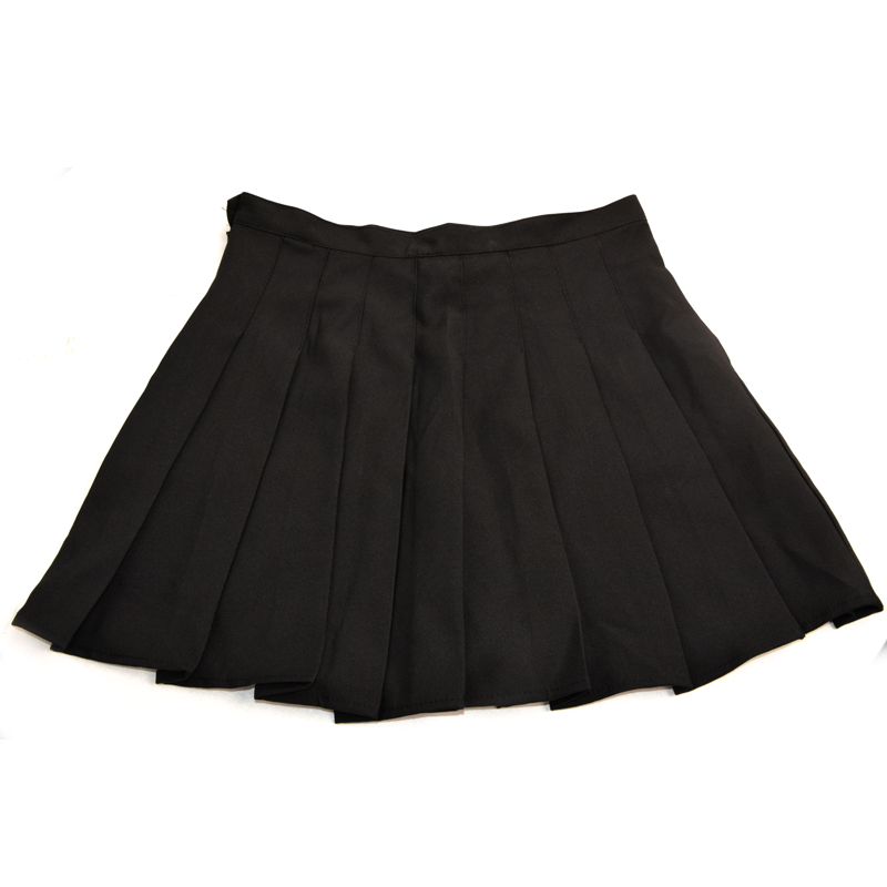 Summer 2017 Women Harajuku Pleated Skirt One Rose Embroidery Ulzzang Preppy Style High Waist Korean Black Skirts 4
