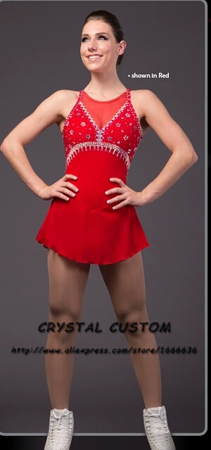 2016 New  Ice  Skating Dresses For Kids  Graceful New Brand  Competition Figure Skating Dress Custom DR3992