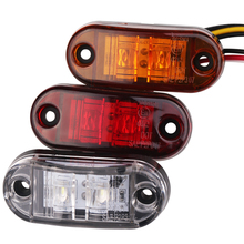 2pc LED Trailer Truck Clearance Side Marker Light 12V 24V Submersible Width lamp Clearance Lamp Turck Side Light Car Styling(China)