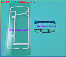Original Housing Front Frame Sticker + Rear Back Cover case Door Adhesive For Samsung Galaxy A310 ( A3 2016 Version ) Tape Glue