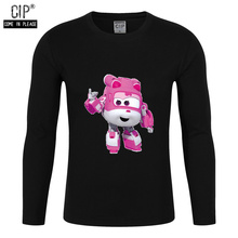 100% Cotton Wings Cartoon Character Super Wings Dizzy Boy T Shirts for Children 3D Printed T-Shirts for Girl Kids Clothes Girls