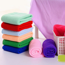 Promotion 10pcs/set 25x25cm Small Square Luxury Soft Fiber Cotton Face Hand Car Cloth Towel House Cleaning tools Random Color