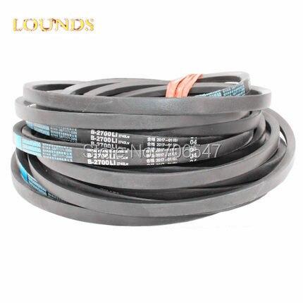 FREE SHIPPING  CLASSICAL WRAPPED V-BELT B2007 B2032 B2057 B2083 B2108 B2134 Li  Industry  Black Rubber B Type Vee V Belt<br>