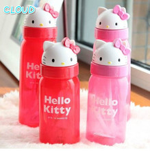 KT Cartoon Water Bottle With Straw My Bottle 500 Ml 350 Ml Plastic Water Bottle Non-toxic Can Not Add Boiling Water