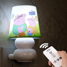 AC220V 0.6W LED Remote control Led Night Light Lamp White/Warm White Baby Bedroom Romantic Birthday Gift Bedside Night Light