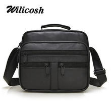 Wilicosh Genuine leather men's messenger bags man handbags brand men shoulder bag casual briefcases men's travel bags tote WL609