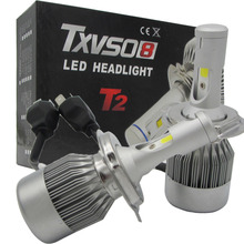 TXVSO8 2x H4 Hi/Lo LED 110W Car Headlight Double Beam Lamps Kit Globes Bulbs 360 Degree Light Source Auto - AutoLife Store store
