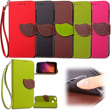 Leaf Case for Xiaomi Redmi 4X Flip Case Wallet Phone Leather Cover for Xiaomi Redmi 4X 4 X Red mi X4(China)