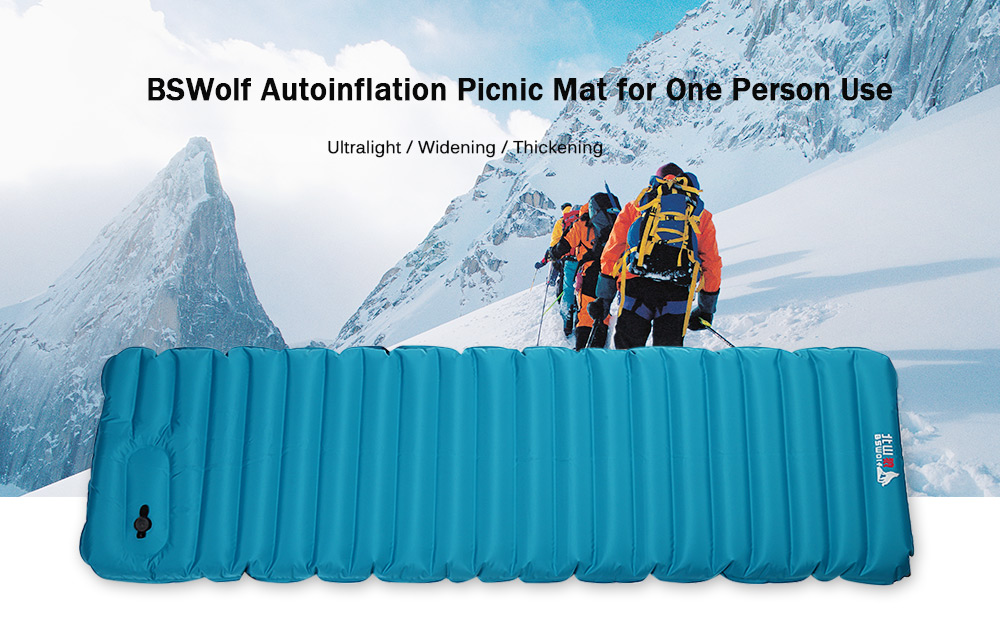 BSWolf Ultralight Widening Thickening Autoinflation Picnic Mat for One Person Use