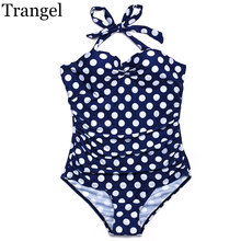 Trangel swimsuit women High waist bikini floral print dot pattern female soft cup padded swimwear beach suit plus size XXXXL