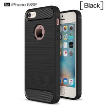 "Case for iPhone 5 5S SE Coque Black Case iPhoneSE iPhone5S iPone5 PC + TPU Slim Hybrid Durable Armor 4.0"" phone"