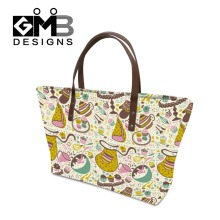 Popular Flower Pattern handbags for teen girls,Womens personalized handbags tote bags,stylish discount designer handbags handles