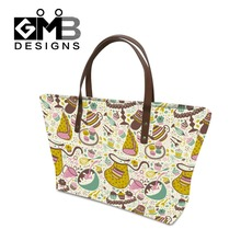Popular Flower Pattern handbags for teen girls,Womens personalized handbags tote bags,stylish discount designer handbags handles(China)