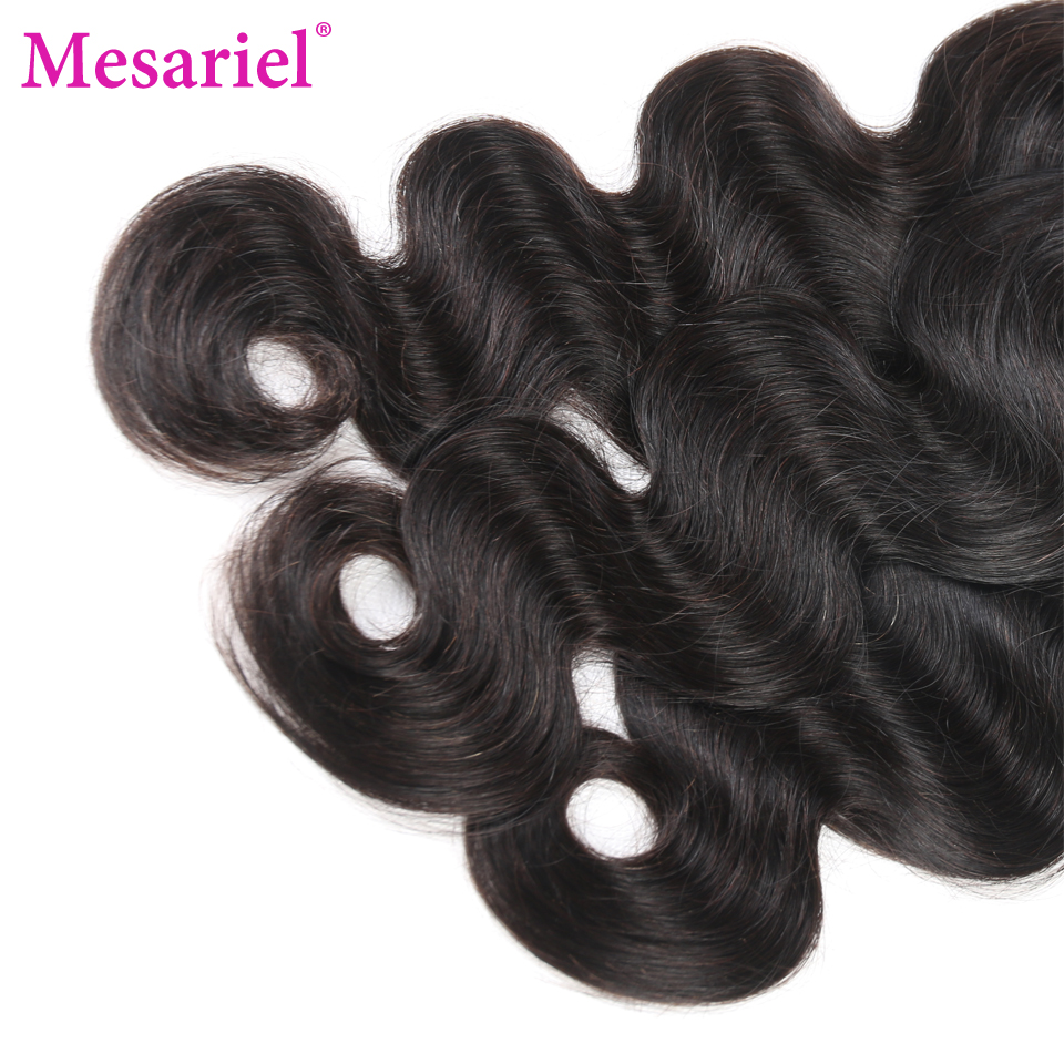Mesariel Peruvian Virgin Hair Body Wave Bundles Free Shipping 10-28inch Human Hair Weave Natural Color