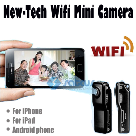 Mobile Security Camera wireless wifi network remote monitoring ultra-small micro camera mini dv P2P 640*480 iOS &amp; Andorid APP<br>