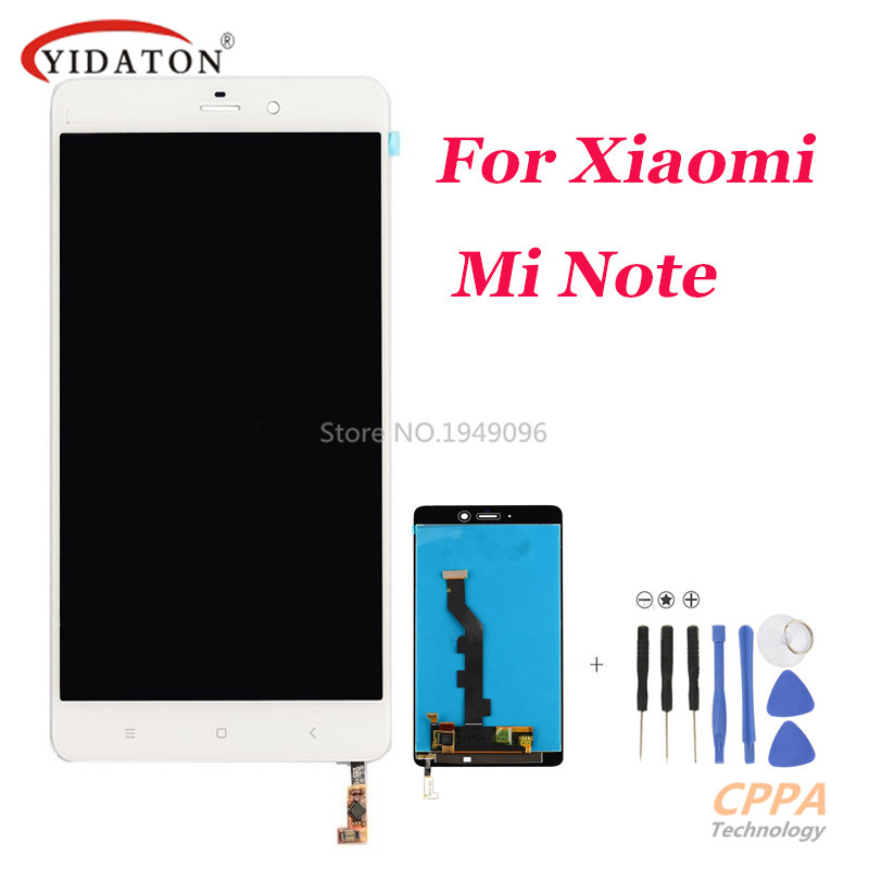 High Quality Lcd Display For Xiaomi Mi Note + digitizer Touch Screen Glass Assembly Replacement free shipping<br>
