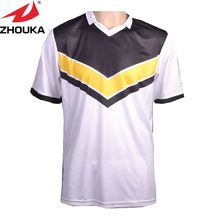 Sublimation printing soccer jersey,name,number,logo free printing on,make your team football jersey(China)