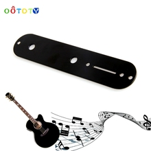 Wonderful Quality Plated Control Plate  Telecaster Tele Electric Guitar Black Guitar Parts Jul17_25