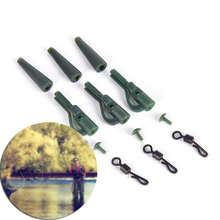 Hot Sale 40pcs/Lot Carp fishing safety clips+pinsandQ shaped quick change swivels terminal tackle(China)