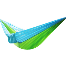 240 x 130 Cm Double Parachute Cloth Hammock Rope Tie Camping Dormitory Outdoor Travel Mountaineering Leisure Two Person Swing(China)