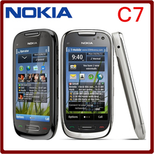 C7 Original Phone Nokia C7 GSM 3G WIFI GPS Bluetooth  8MP Camera Cell phones Unlocked 3.5''  Free shipping one year warranty